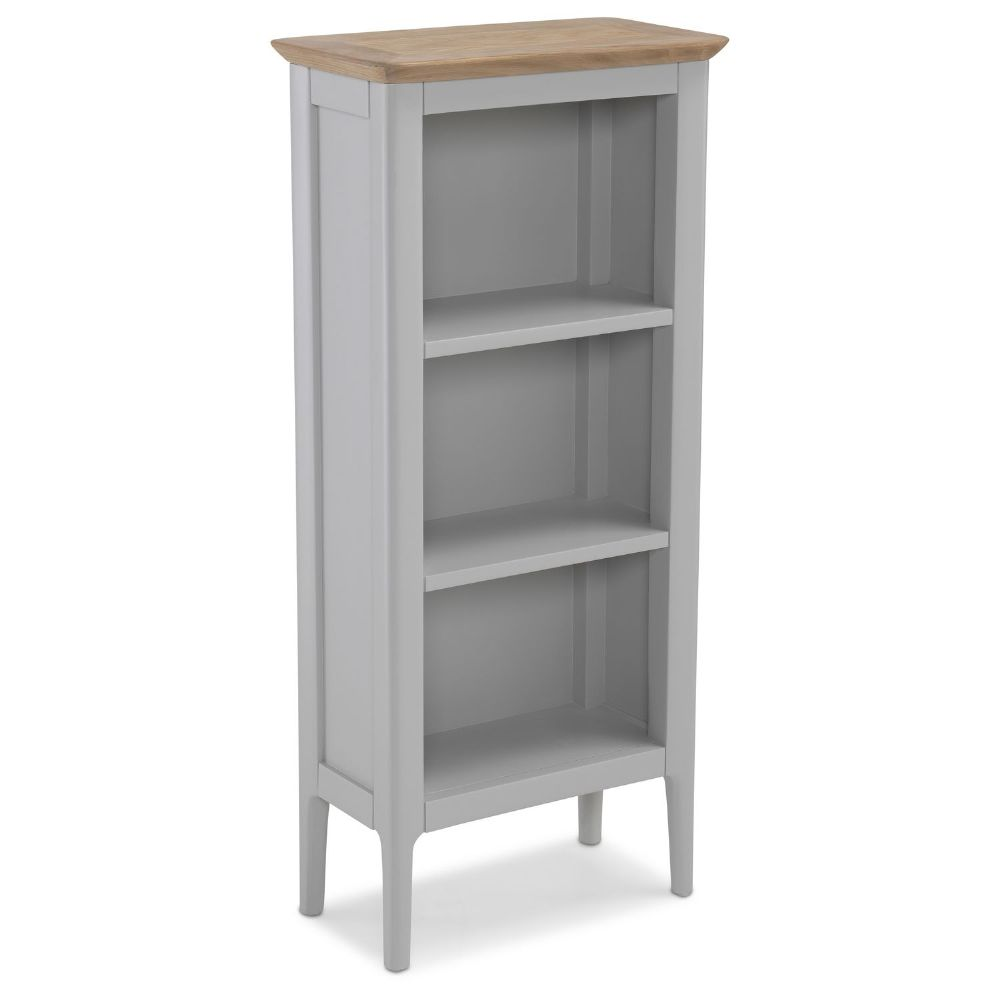 Stanton Grey Low Narrow Bookcase